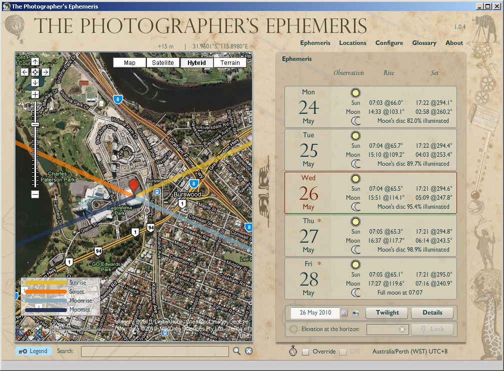 6 sunrise and sun location applications for photographers martin images the photographers ephemeris for desktop gumiabroncs Image collections