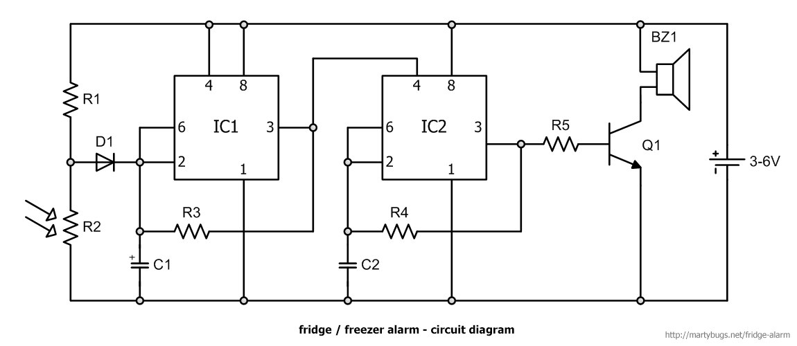 Fridge And Freezer Door Alarm