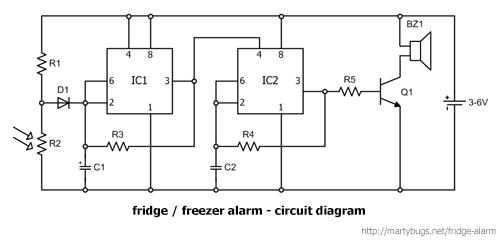 fridge and zer door alarm fridge and zer alarm circuit diagram