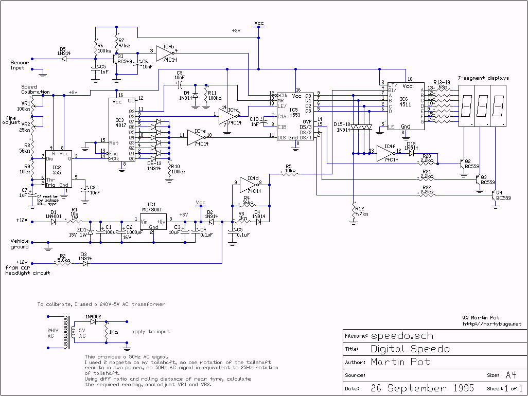 Building A Digital Speedo How To Make Led Circuit Pdf Version Schematic
