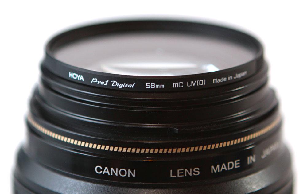 Hoya Filters Logo 58mm Hoya uv Filter on Canon