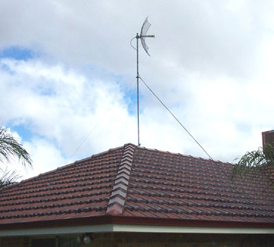 The Mast Mounted On The Roof